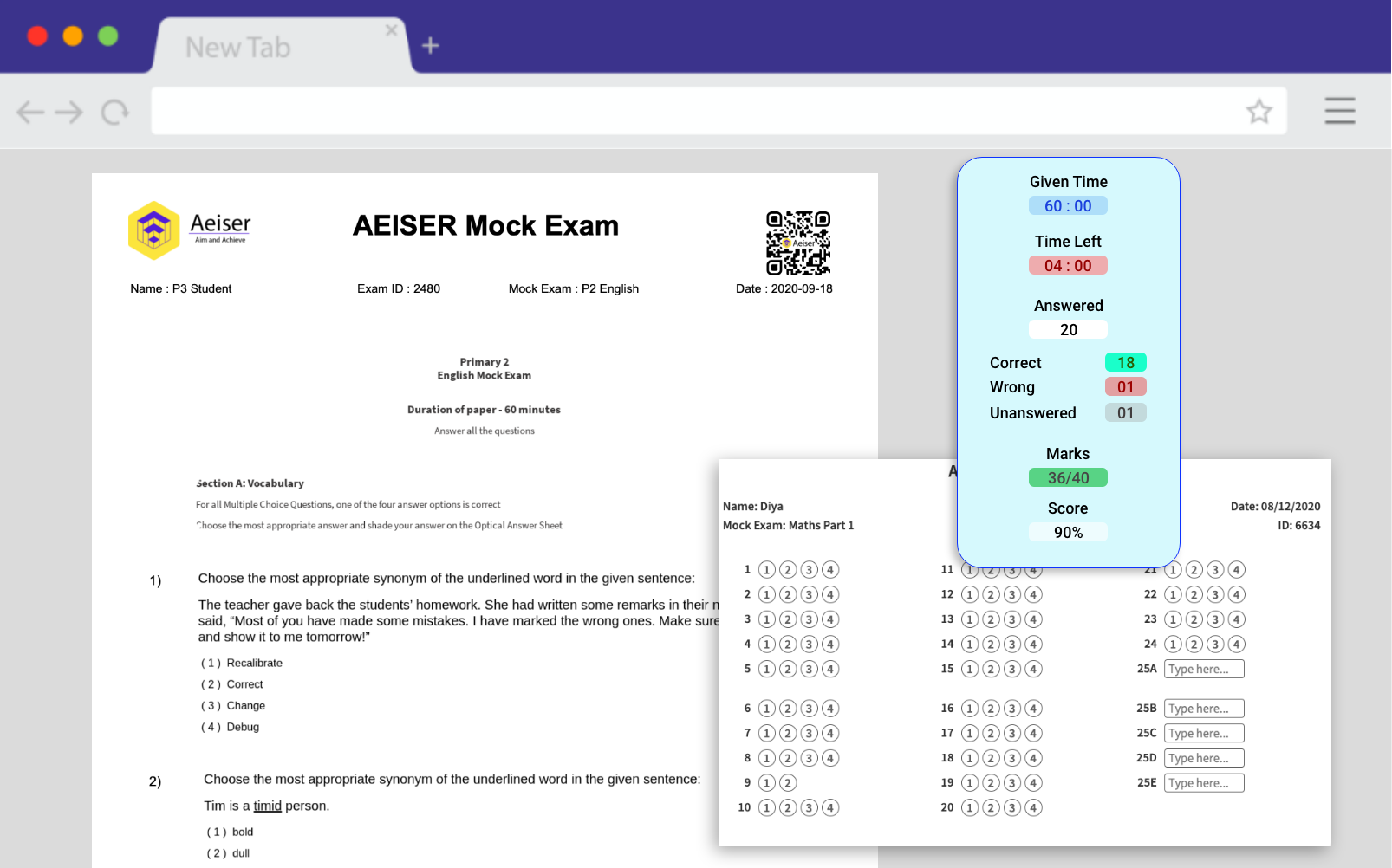 AEIS SAEIS Mock Exam paper